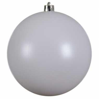 1x grote raam/deur/kerstboom decoratie winter witte kerstballen 14 cm mat