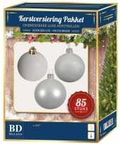Witte kerstballen pakket 85 delig voor 180 cm boom